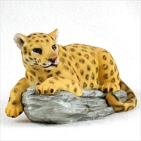 Leopard on Rock Standard Figurine