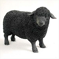 Sheep Black Standard Figurine