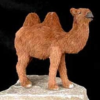 Camel Bactrian Fur Figurine