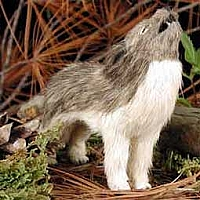 Wolf Timber Fur Figurine