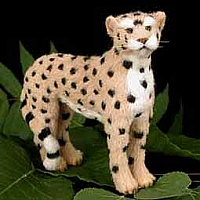 Cheetah Fur Figurine