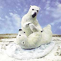 Bear Polars On Snow Figurine