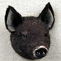 Pig Black Magnet Fur