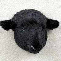Sheep Black Magnet Fur