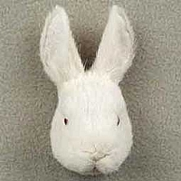 Rabbit White Magnet Fur