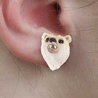 Bear Polar Earrings Post