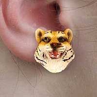 Tiger Earrings Post