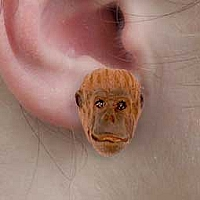 Orangutan Earrings Post