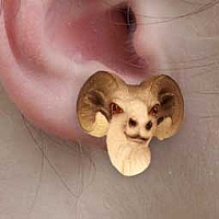 Dahl Sheep Earrings Post