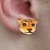 Jaguar Earrings Post