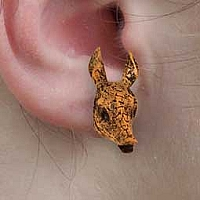 Armadillo Earrings Post