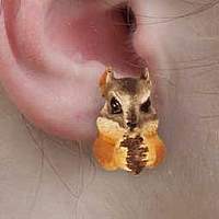 Chipmunk Earrings Post