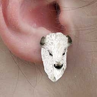 Buffalo White Earrings Post
