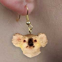 Koala Earrings Hanging