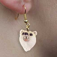 Bear Polar Earrings Hanging