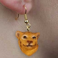 Leopard Earrings Hanging