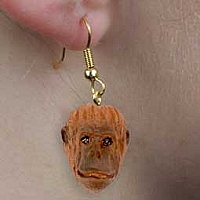 Orangutan Earrings Hanging
