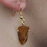 Buffalo Earrings Hanging