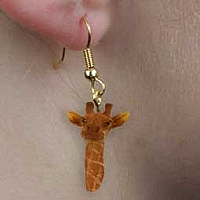 Giraffe Earrings Hanging