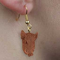 Razorback Hog Earrings Hanging