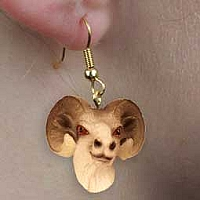 Dahl Sheep Earrings Hanging