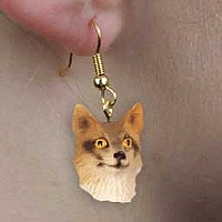 Fox Gray Earrings Hanging