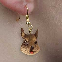 Squirrel Earrings Hanging