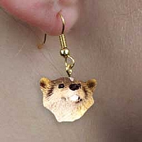 Badger Earrings Hanging