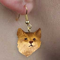Bobcat Earrings Hanging