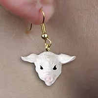 Pig Pink Earrings Hanging
