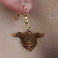 Pig Black Earrings Hanging