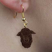 Sheep Black Earrings Hanging