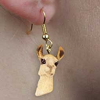 Llama Earrings Hanging