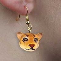 Jaguar Earrings Hanging