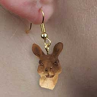 Kangaroo Earrings Hanging