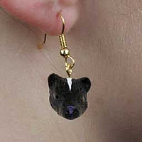 Skunk Earrings Hanging