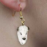 Buffalo White Earrings Hanging