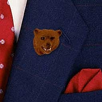 Bear Grizzly Pin