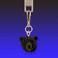Bear Black Zipper Charm
