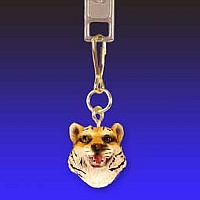 Tiger Zipper Charm