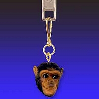 Chimpanzee Zipper Charm