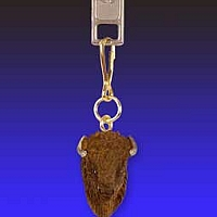 Buffalo Zipper Charm