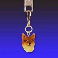 Fox Red Zipper Charm
