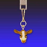 Guernsey Cow Zipper Charm