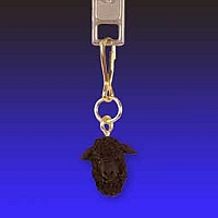 Sheep Black Zipper Charm