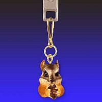 Chipmunk Zipper Charm