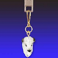 Buffalo White Zipper Charm