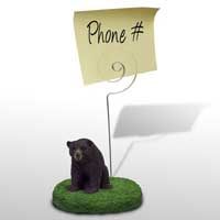 Bear Black Memo Holder