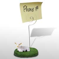 Goat White Memo Holder