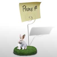 Rabbit White Memo Holder